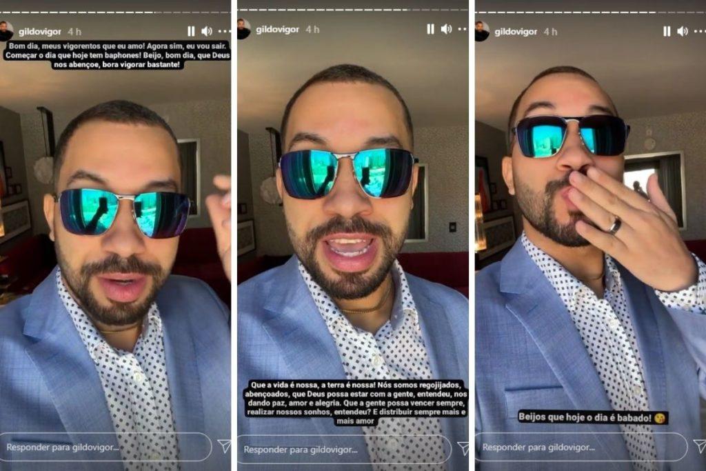 Gil do Vigor deixa hotel com look despojados e óculos de sol espelhados