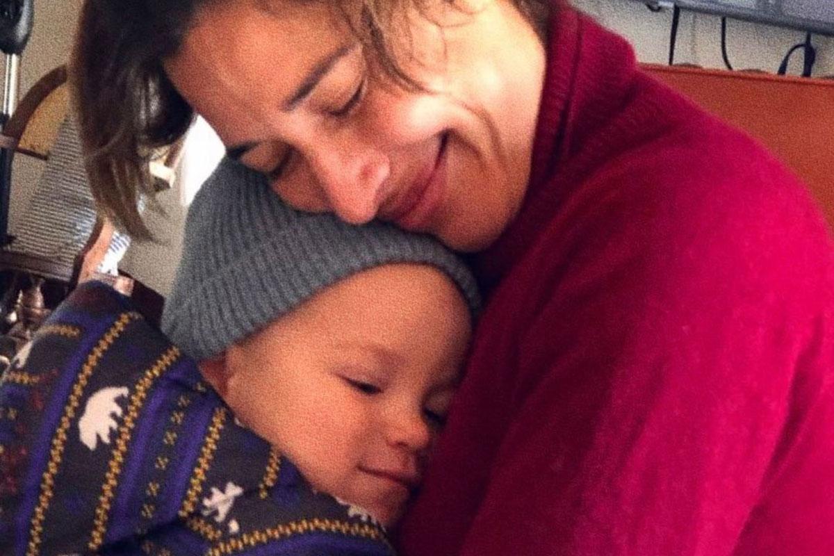 Giselle Itié com o filho Pedro Luna