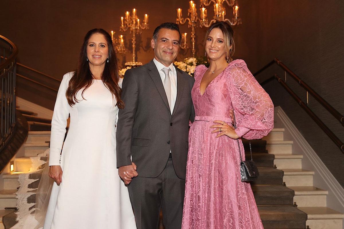 Jô Pinheiro e o marido, Eduardo Nunes, com Ticiane Pinheiro