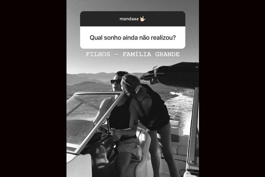 João Figueiredo fala da vontade de ter filhos com Sasha Meneghel