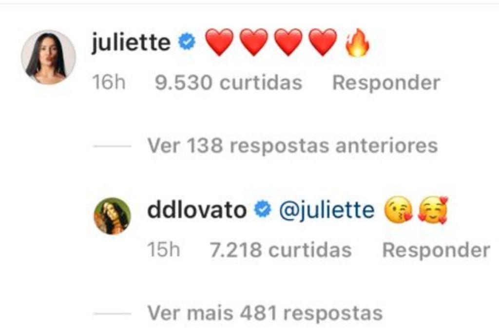 juliette-e-demi-lovato-nos-comentarios
