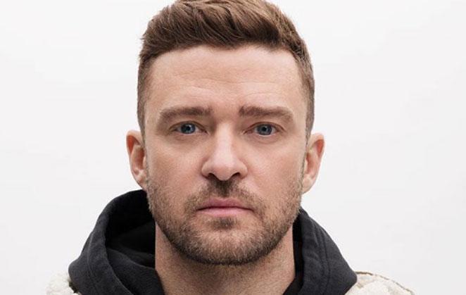 Justin Timberlake em selfie