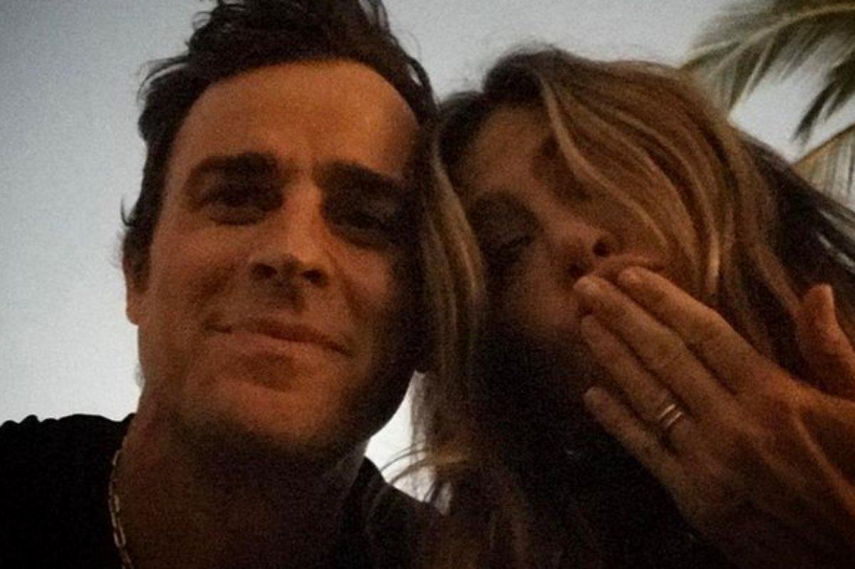 Justin Theroux e Jennifer Aniston juntos em selfie