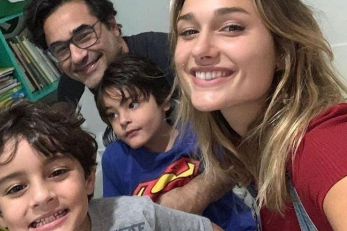 Luciano Szafir com os três filhos