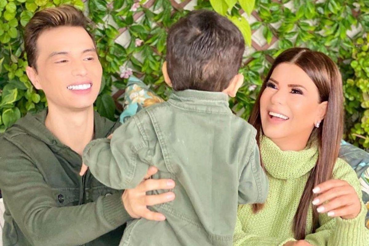 Mara Maravilha com Gabriel Torres e o filho Benjamin