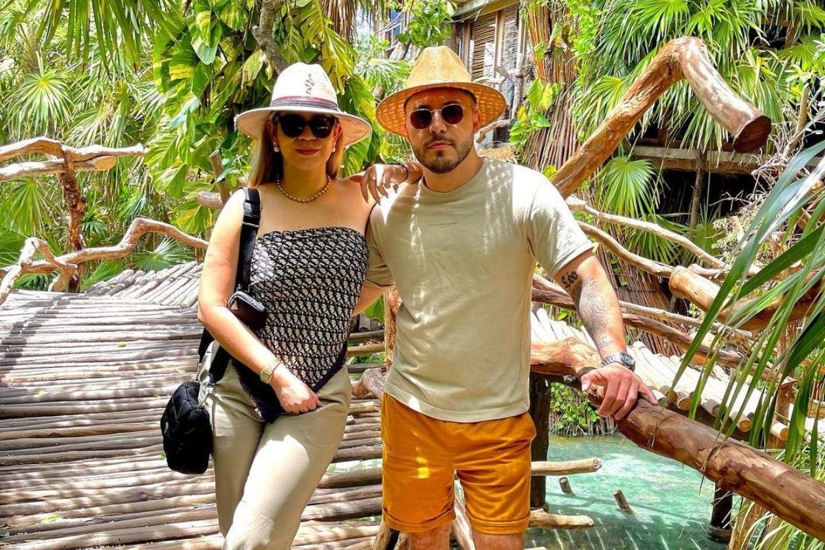 Marília Mendonça e Murilo Huff em Tulum, no México