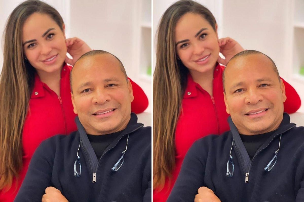Fotomontagem com registro de Neymar Pai em clínica de estética