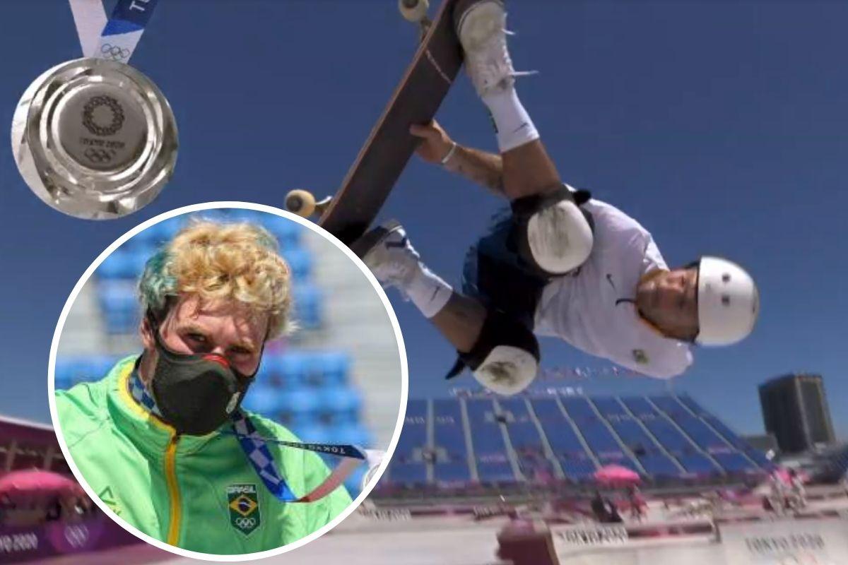 Pedro Barros é medalha de prata no skate