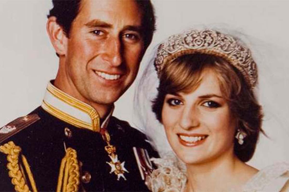 Príncipe Charles e Lady Di no dia do casamento