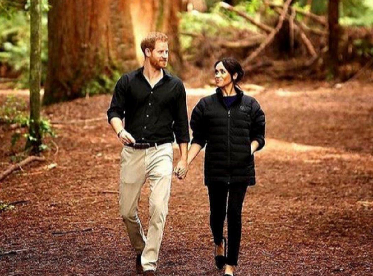 Príncipe Harry e Meghan Markle caminham em parque nacional da Nova Zelândia