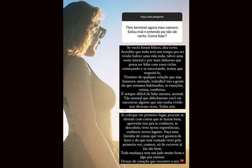 Rafa Kalimann comenta sobre término de namoro