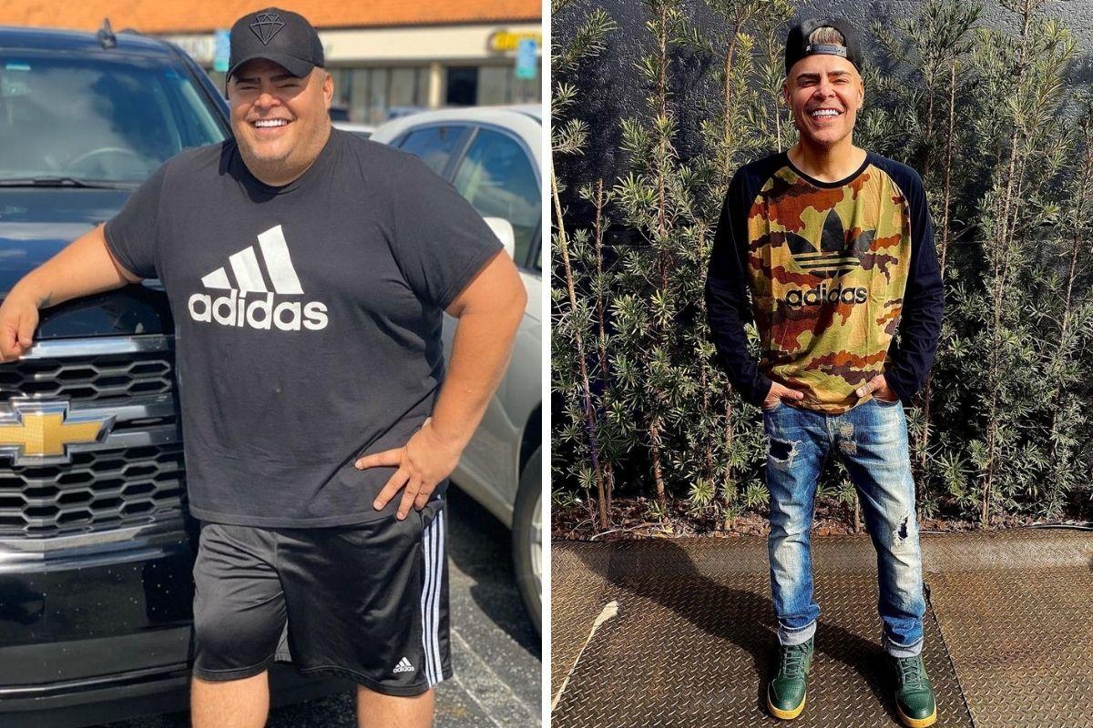 Rafael Vannucci antes e depois da cirurgia bariátrica