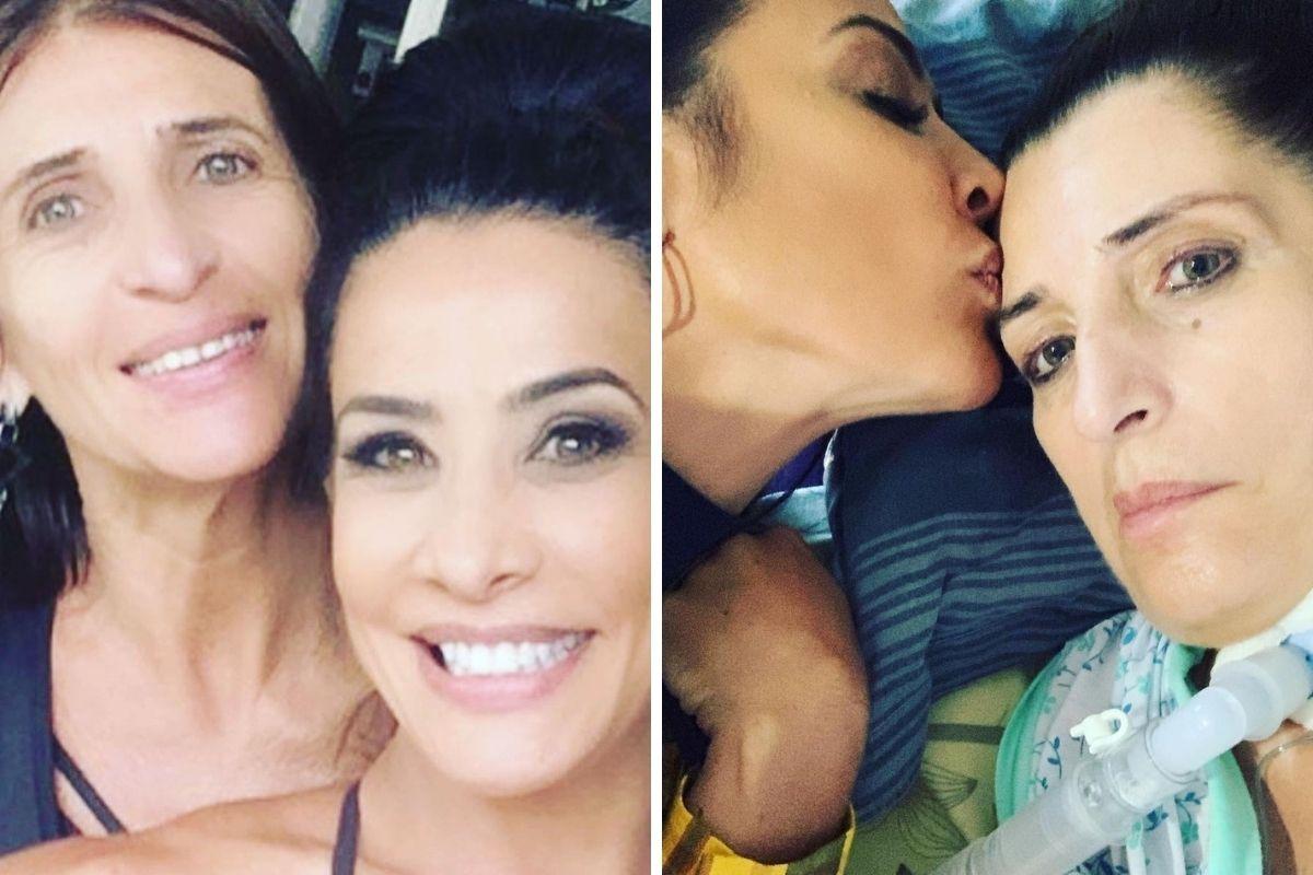 Scheila Carvalho em fotos com a irmã, que morreu