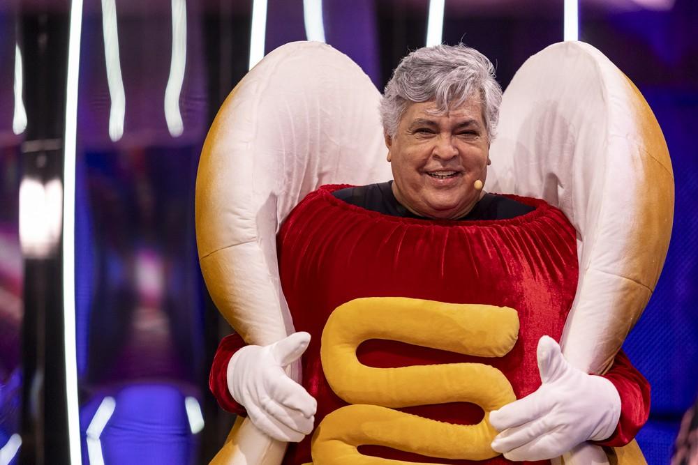 Sidney Magal vestido como Hot Dog