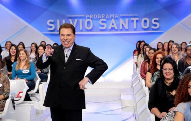 Silvio Santos no auditório do SBT