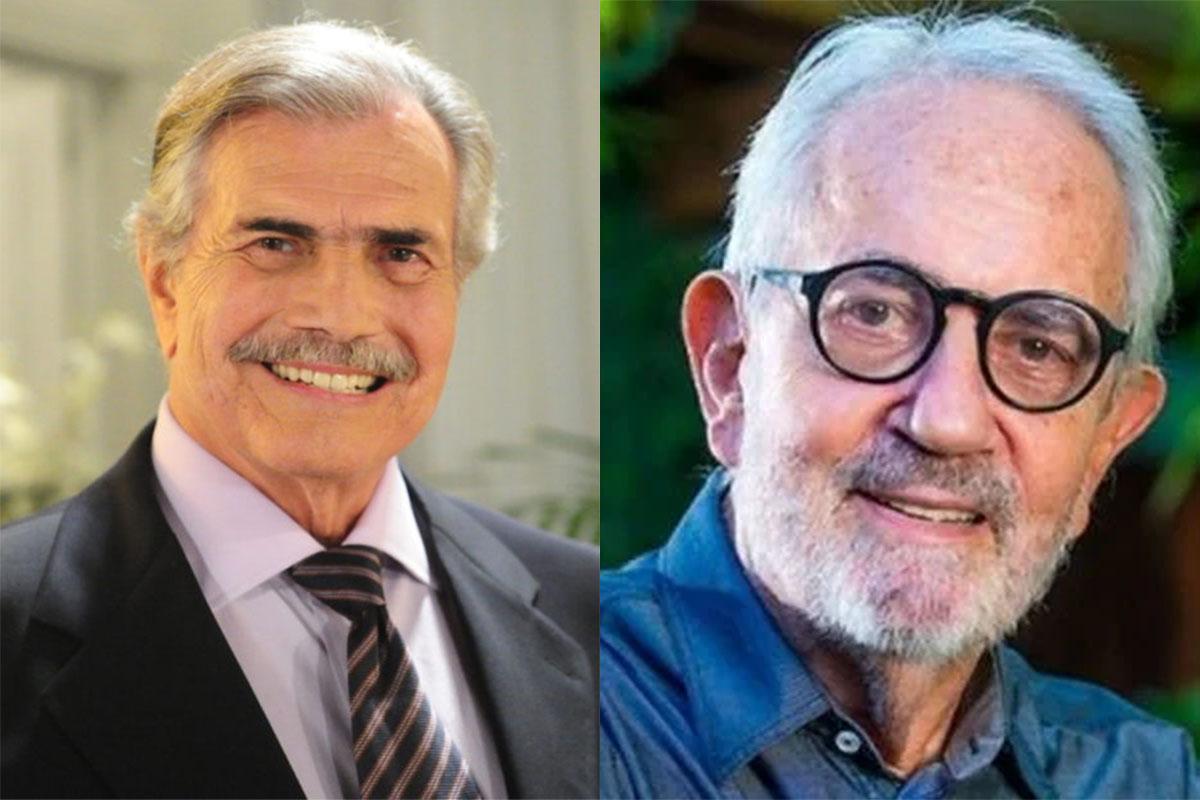 Tarcísio Meira e Paulo José, sorridentes
