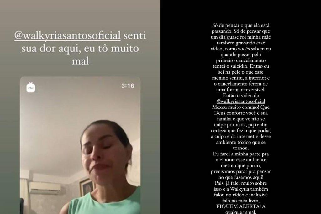 Viih Tube lamentou a morte do filho de Walkyria Santos
