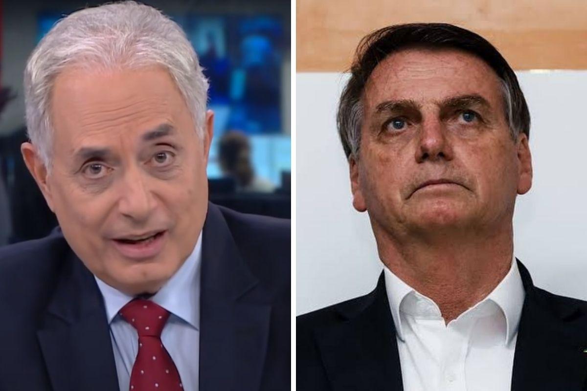 William Waack e Jair Bolsonaro