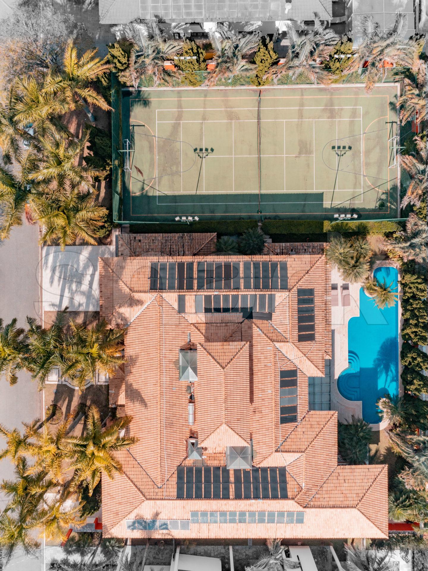 Foto aérea da mansão que já foi de Zezé di Camargo e Zilu