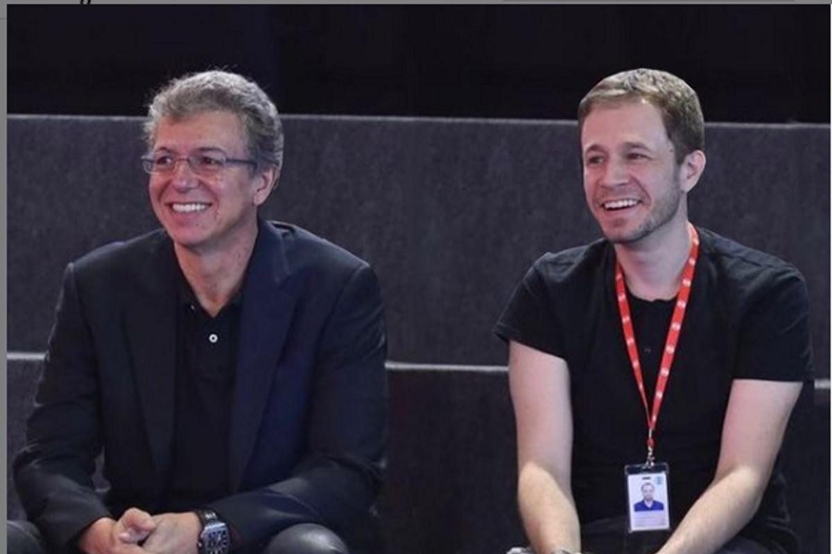 Boninho e Tiago Leifert