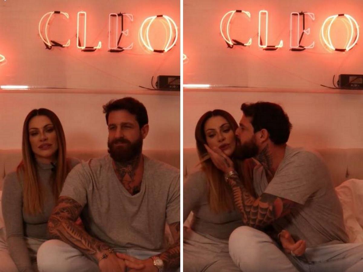 Cleo eo marido em quarto da atriz