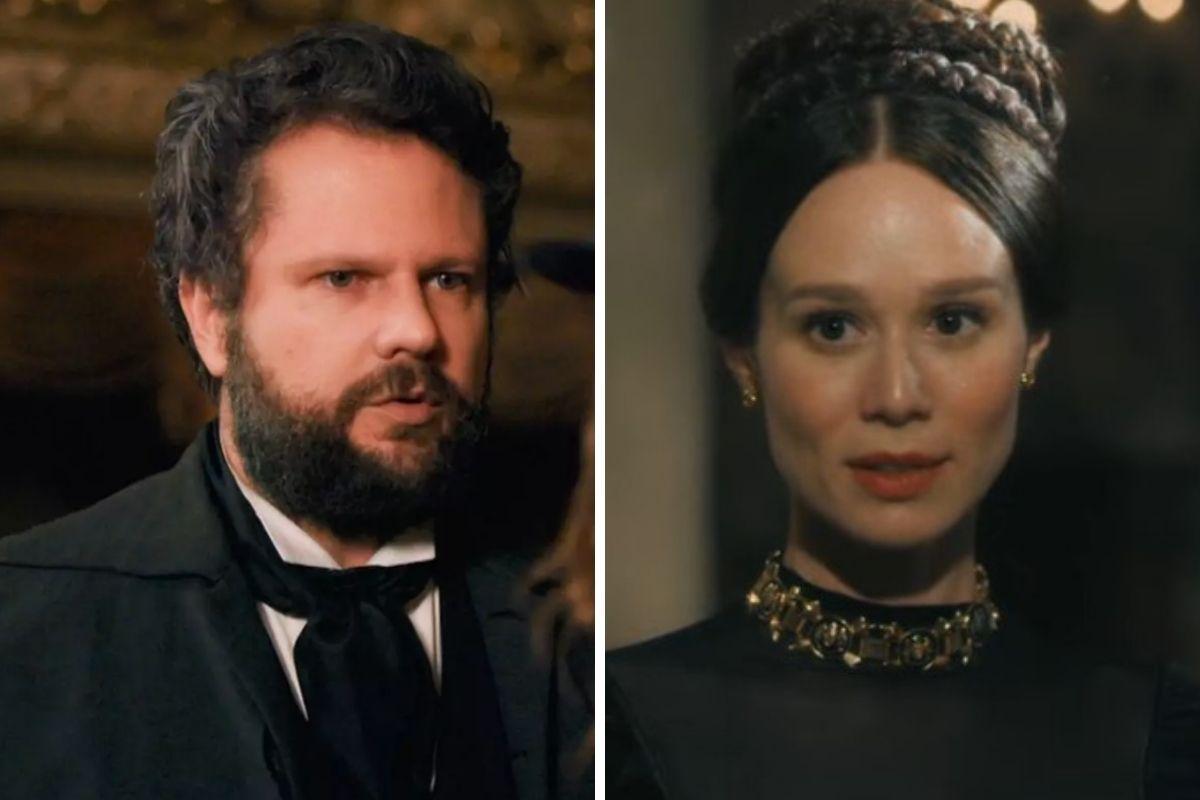 Nos Tempos do Imperador: Após anunciar gravidez, Luísa é ameaçada por Pedro