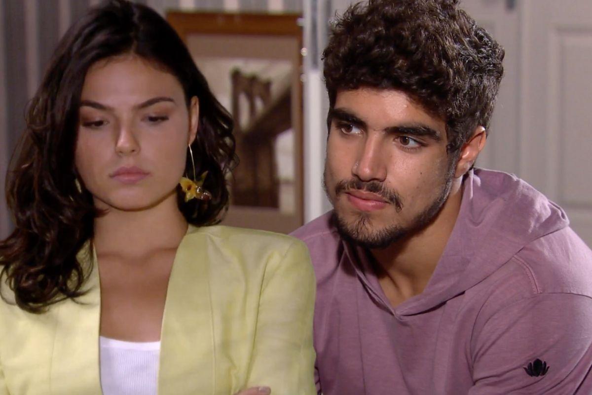 Edgar – Caio Castro e Marcela – Isis Valverde na novela Ti Ti Ti