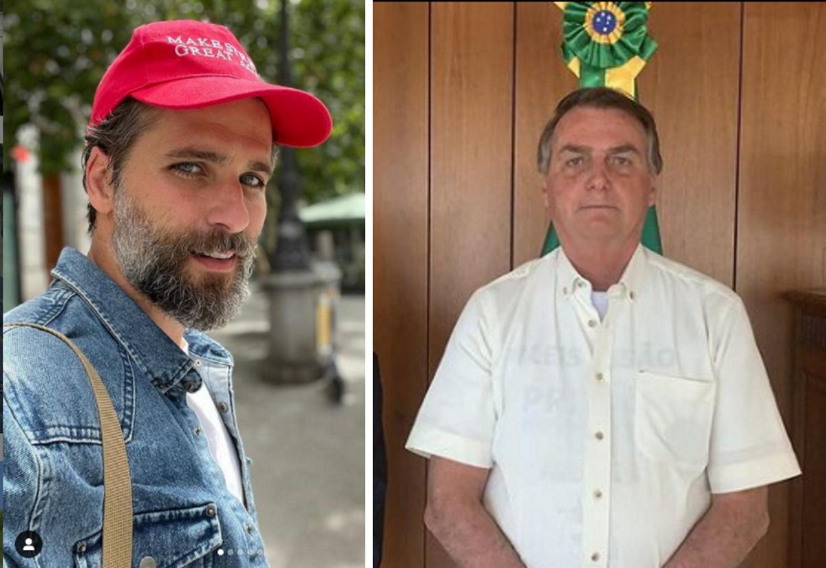 Bruno Gagliasso e Bolsonaro fotomontagem