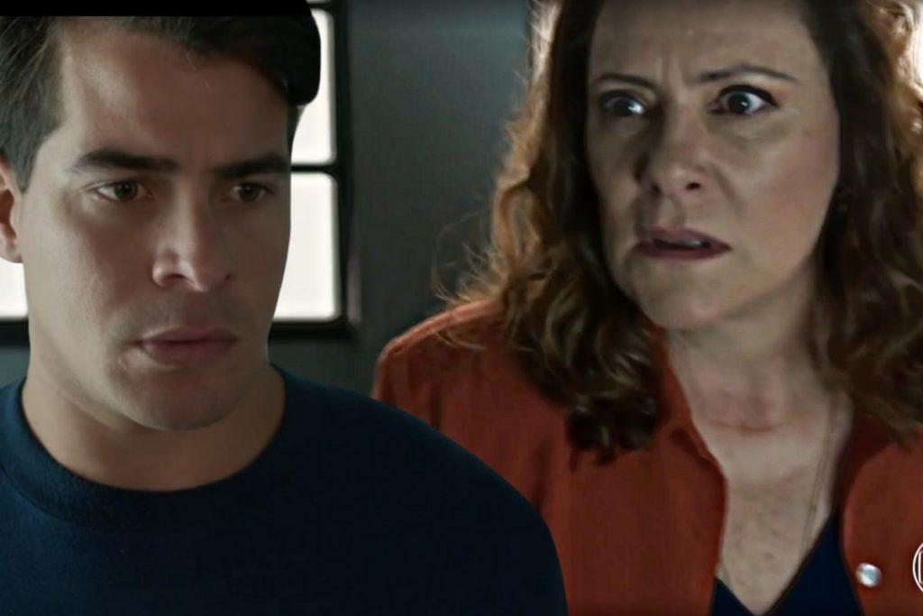 Júlio vê Arlete entrando no hotel e fica curioso para saber o que faz ali.