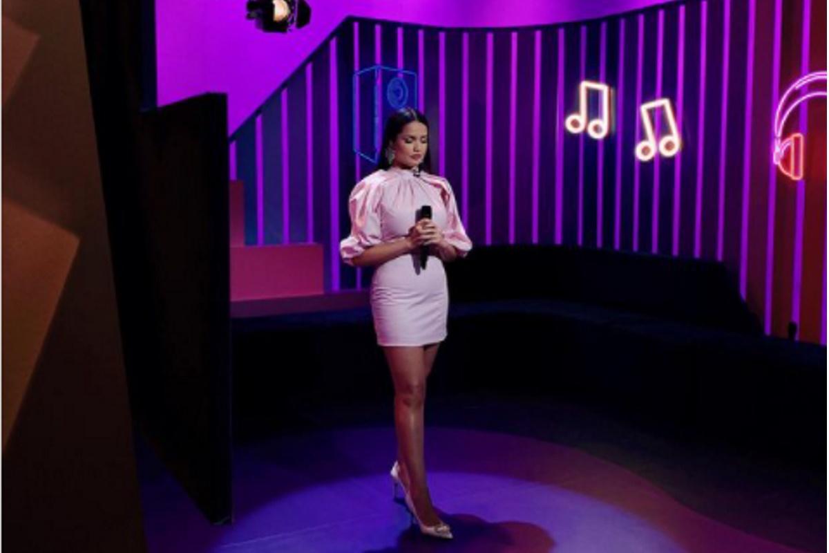 Juliette no palco do Multishow
