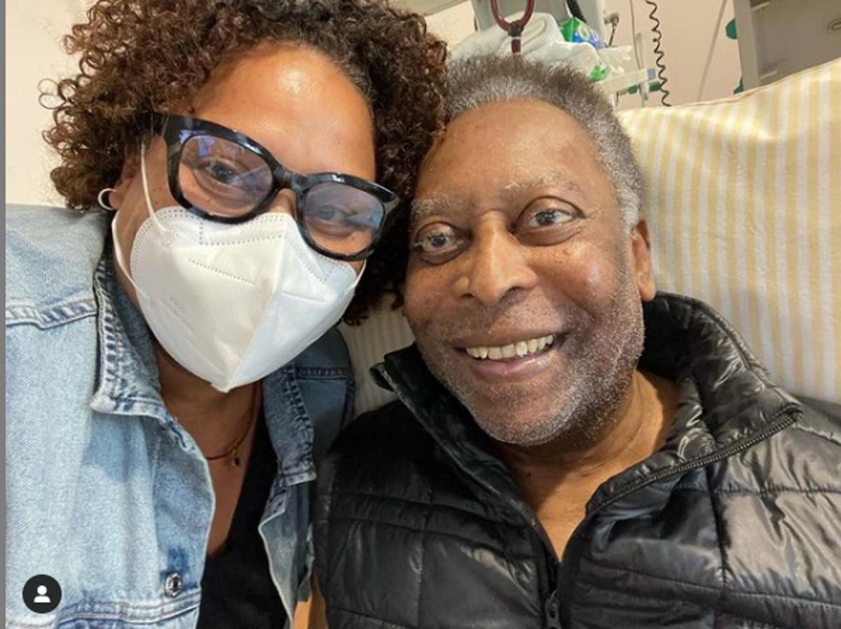 Kely e Pele no hospital