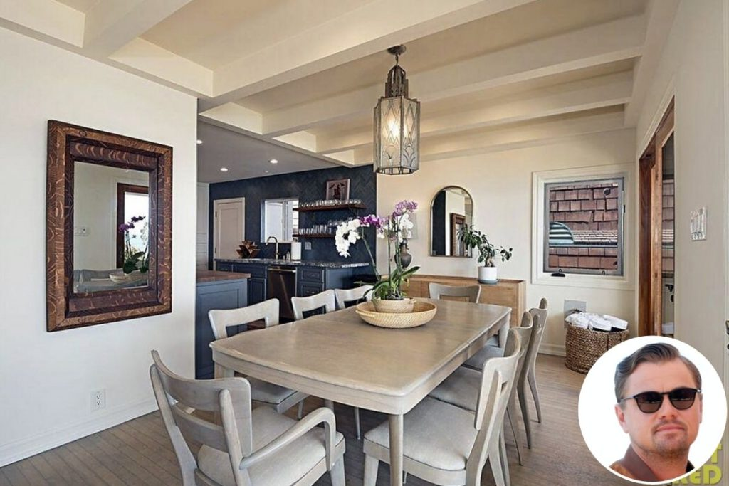 Mansão de Leonardo em Malibu: Sala de jantar