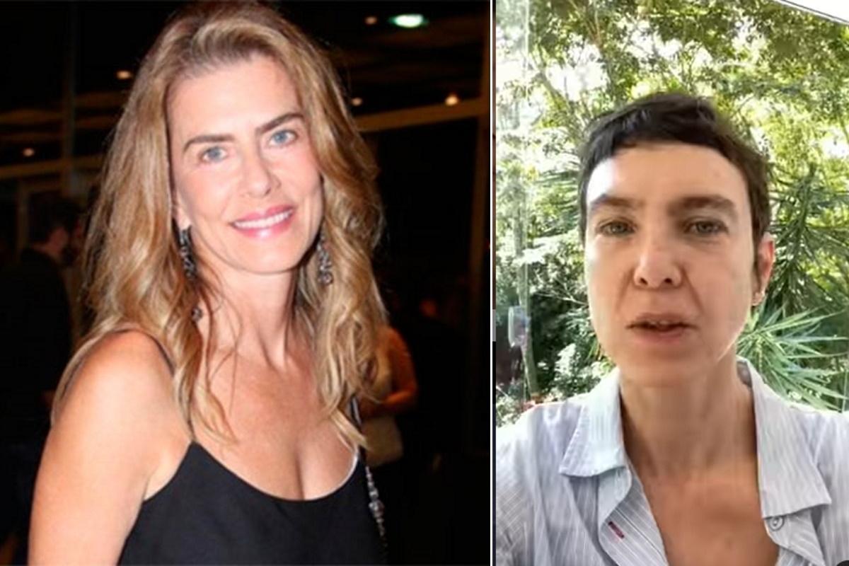 Maite e Adriana Calcanhotto fotomontagem
