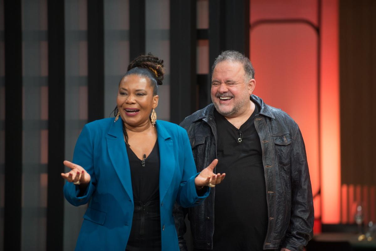 Margareth Menezes e Leo Jaime no MasterChef