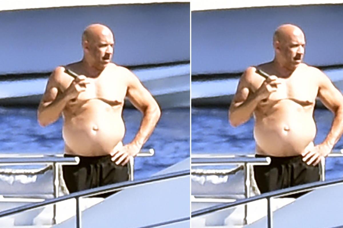Vin Diesel fora de forma