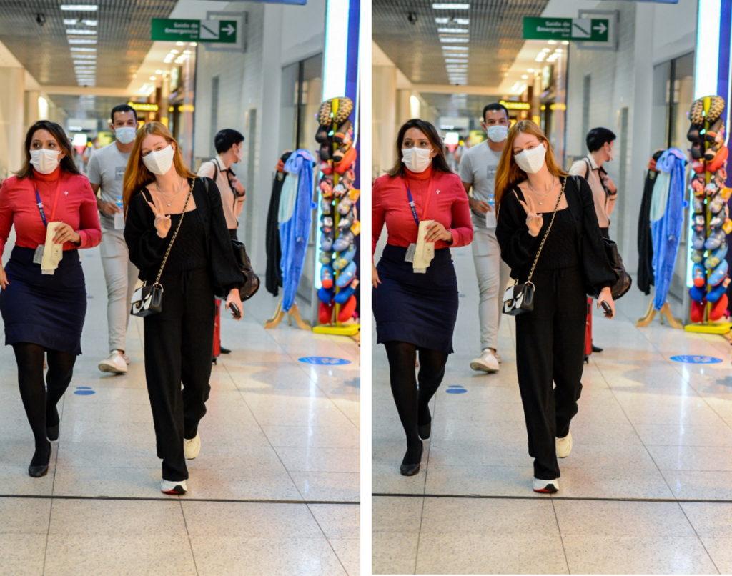 Marina Ruy Barbosa em aeroporto