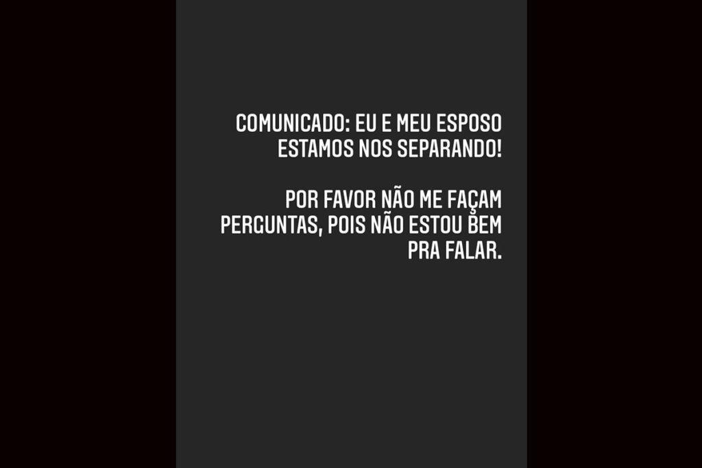 Andressa Urach revela que está se separando de Thiago Lopes - Foto: Reprodução/Instagram/@andressaurachoficial