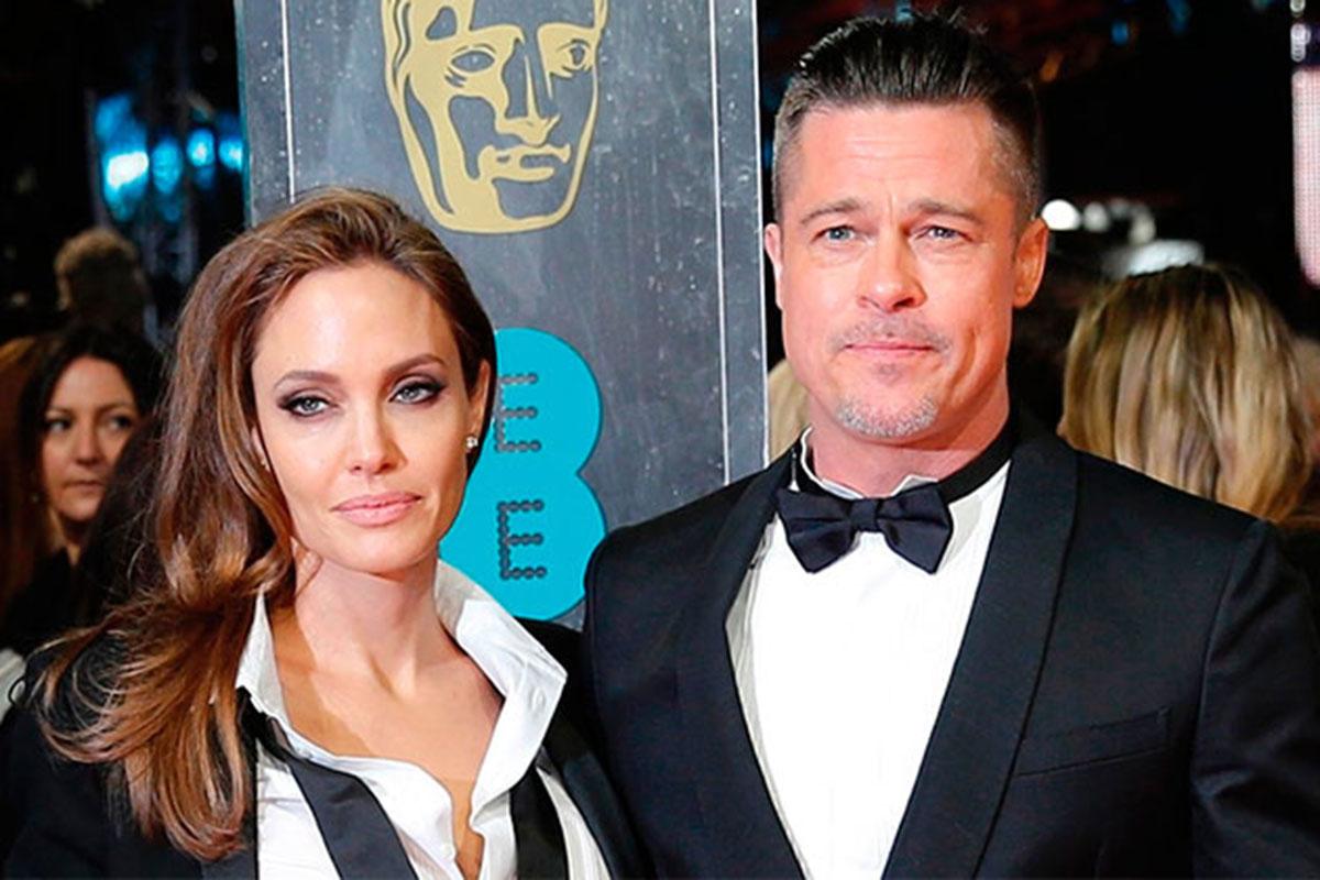 Retrato Angelina Jolie e Brad Pitt