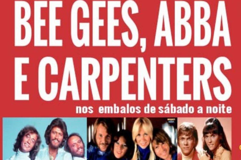 Cartaz do musical Bee Gees, Abba e Carpenters