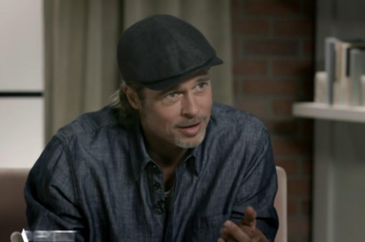 Brad Pitt em entrevista com Adam Sandler