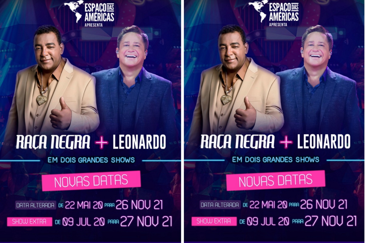 Cartaz show de Leonardo e Raça Negra
