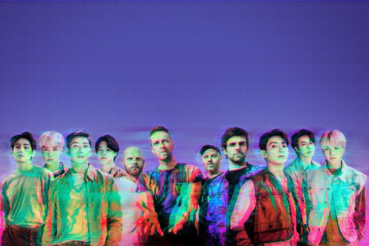 Foto promocional de BTS e Coldplay para feat