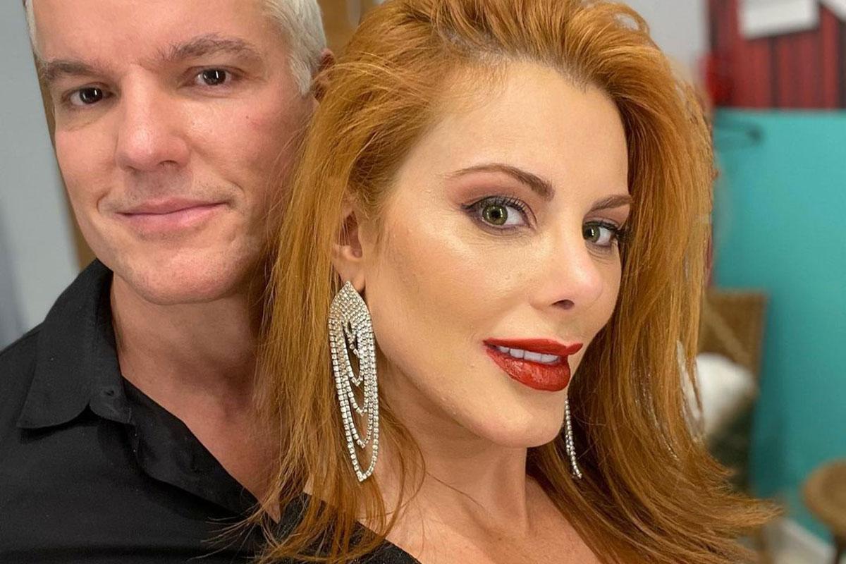 Deborah Albuquerque ao lado do marido Bruno Salomão