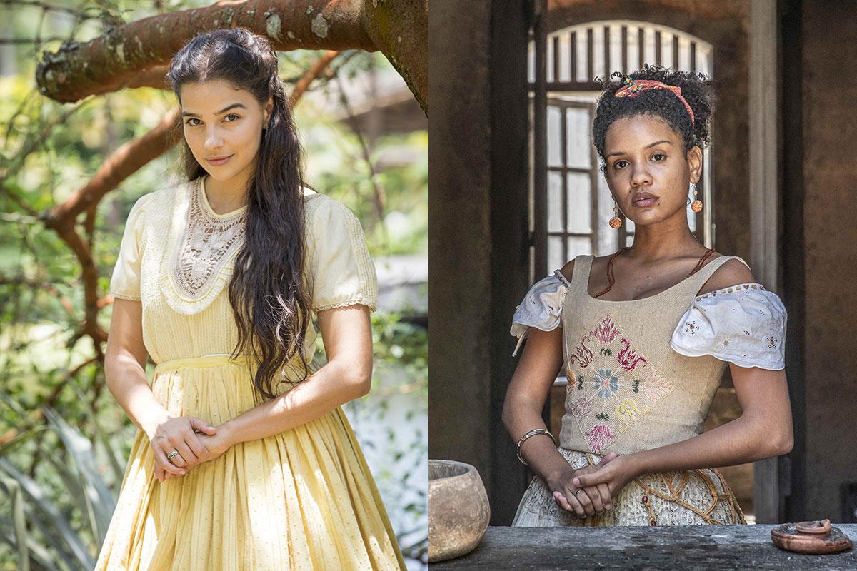 Gabriela Medvedovski e Heslaine Vieira em Nos Tempos do Imperador