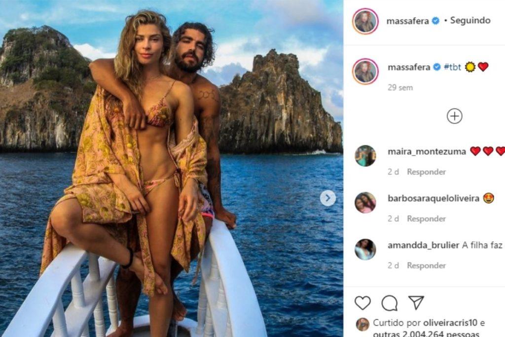 Grazi Massafera e Caio Castro em foto no Instagram
