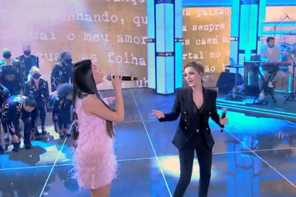 Juliette e Sandy no palco