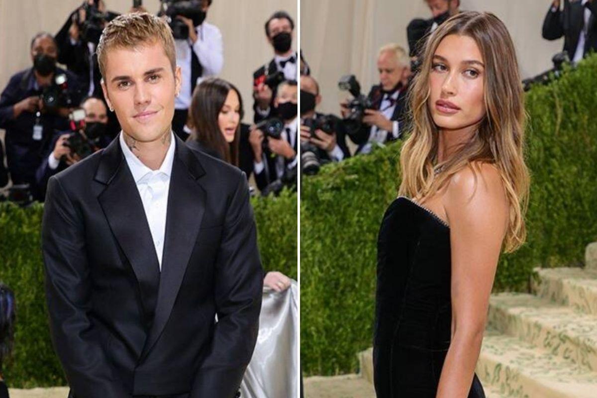 Justin Bieber e Hailey Bieber no Met Gala 2021