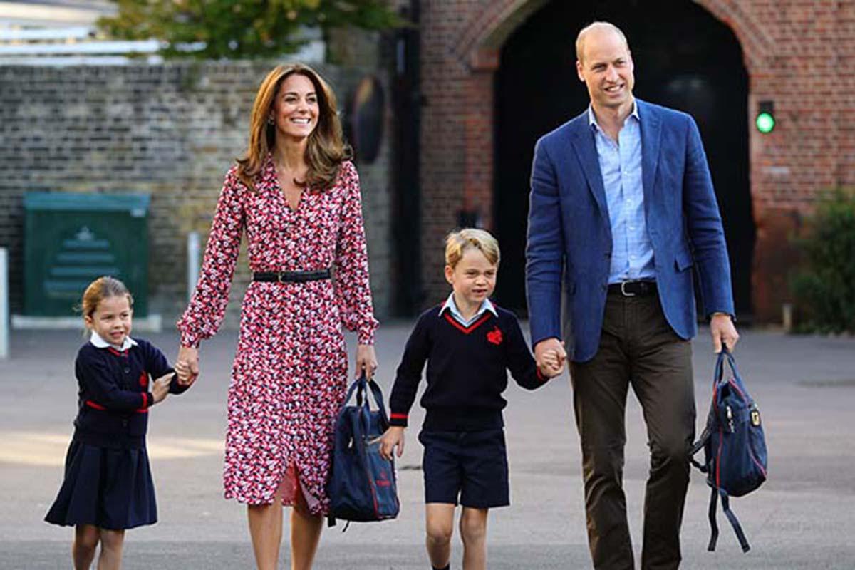 Príncipe William e Kate Middleton com os filhos George e Charlotte