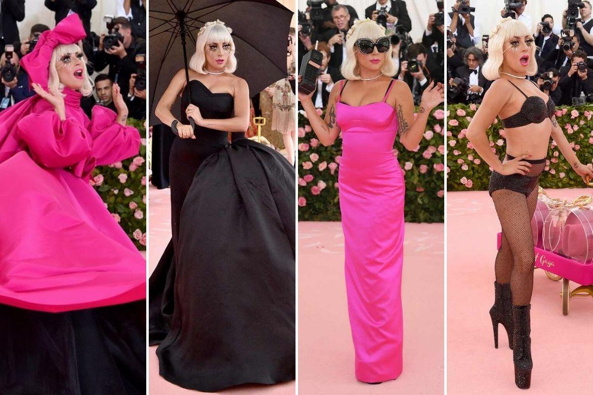 Lady Gaga e seu look em quatro etapas no Met Gala de 2019