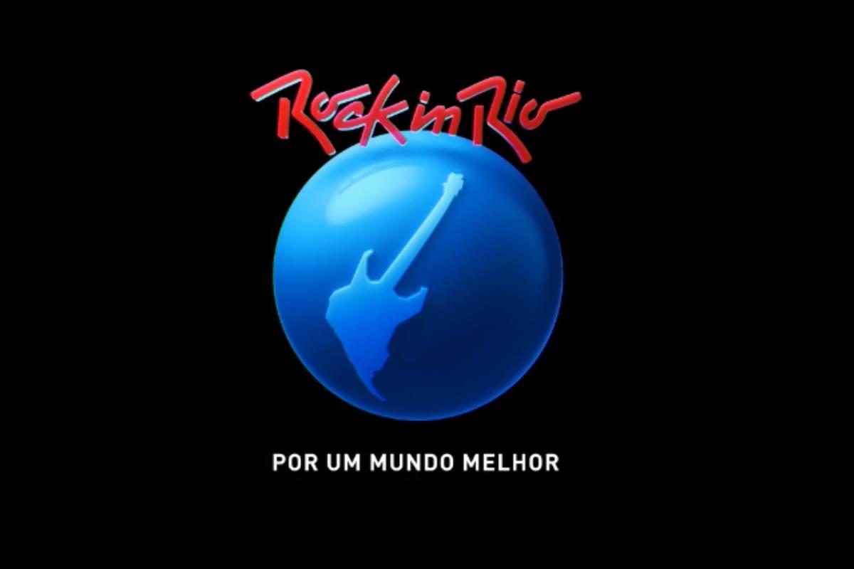 logo do rock in rio com a frase por um mundo melhor escrita embaixo